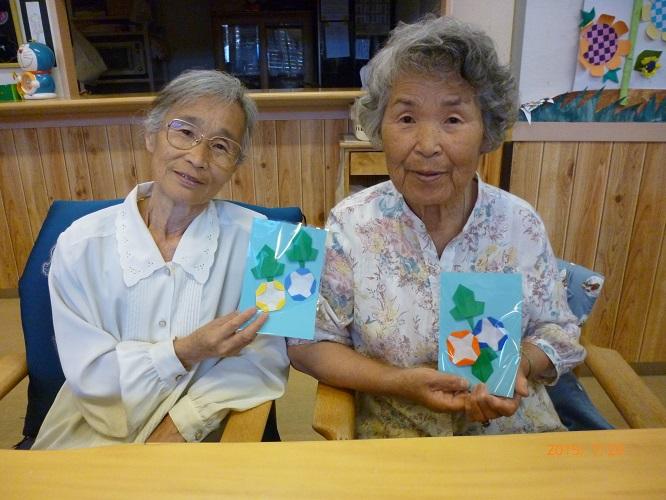 クリスマス 折り紙 7月の折り紙 : h-s-kai.com